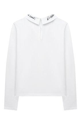 Детская хлопковая блузка DOLCE & GABBANA белого цвета, арт. L5JTEA/G7WY0/8-14 | Фото 2