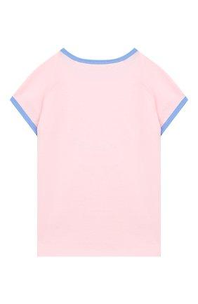 Детская хлопковая футболка GUCCI розового цвета, арт. 554860/XJCTS | Фото 2