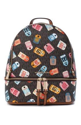 Женский рюкзак rhea zip medium MICHAEL MICHAEL KORS коричневого цвета, арт. 30T0GEZB20 | Фото 1