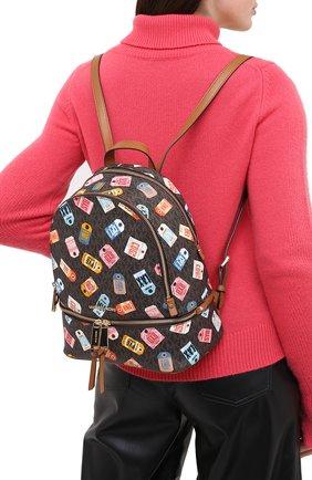 Женский рюкзак rhea zip medium MICHAEL MICHAEL KORS коричневого цвета, арт. 30T0GEZB20 | Фото 2