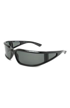 Женские солнцезащитные очки BALENCIAGA черного цвета, арт. 641689/T0007 | Фото 1