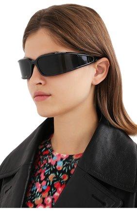 Женские солнцезащитные очки BALENCIAGA черного цвета, арт. 641689/T0007 | Фото 2