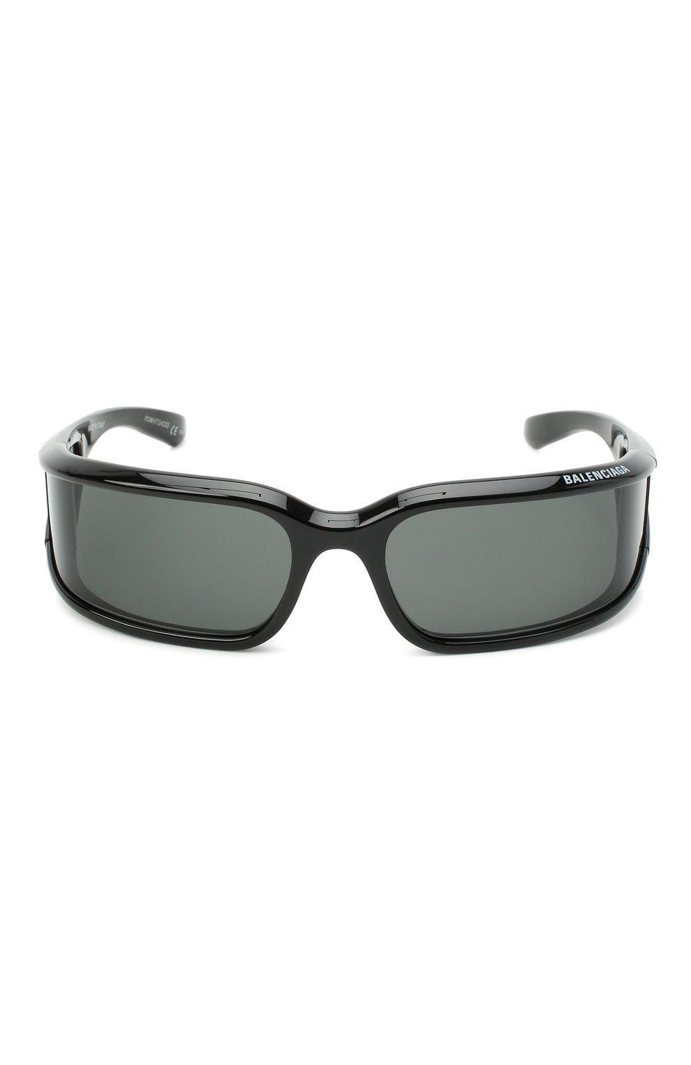 Женские солнцезащитные очки BALENCIAGA черного цвета, арт. 641689/T0007 | Фото 3
