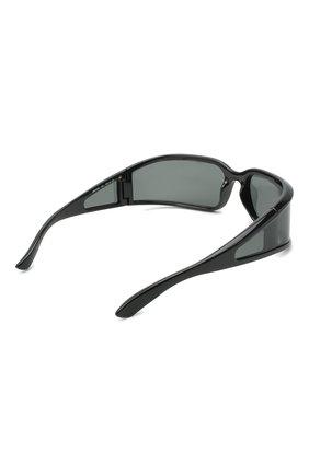 Женские солнцезащитные очки BALENCIAGA черного цвета, арт. 641689/T0007 | Фото 4