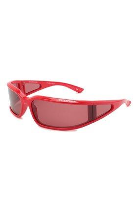 Женские солнцезащитные очки BALENCIAGA красного цвета, арт. 641689/T0007 | Фото 1