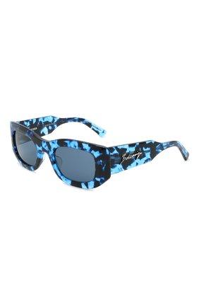 Женские солнцезащитные очки BALENCIAGA синего цвета, арт. 641687/T0001 | Фото 1