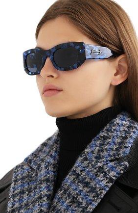 Женские солнцезащитные очки BALENCIAGA синего цвета, арт. 641687/T0001 | Фото 2