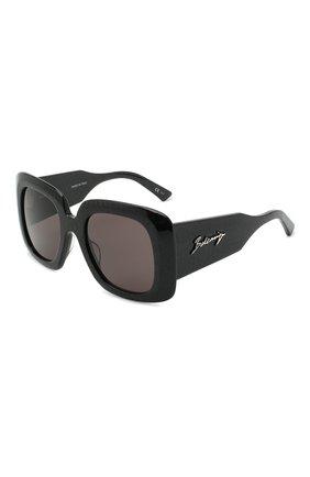 Женские солнцезащитные очки BALENCIAGA черного цвета, арт. 641685/T0001 | Фото 1