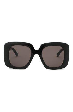 Женские солнцезащитные очки BALENCIAGA черного цвета, арт. 641685/T0001 | Фото 3