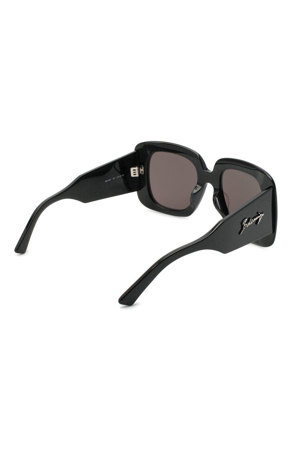 Женские солнцезащитные очки BALENCIAGA черного цвета, арт. 641685/T0001 | Фото 4