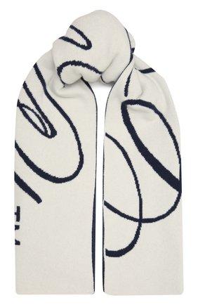 Женский шерстяной шарф OFF-WHITE синего цвета, арт. 0WMA017F20KNI0036110 | Фото 1