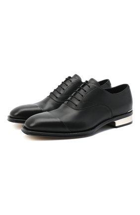 Мужские кожаные оксфорды ALEXANDER MCQUEEN черного цвета, арт. 627210/WHYH2 | Фото 1