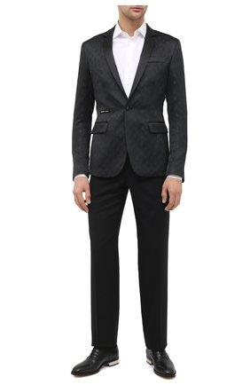 Мужские кожаные оксфорды ALEXANDER MCQUEEN черного цвета, арт. 627210/WHYH2 | Фото 2
