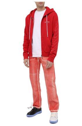 Мужская хлопковая толстовка OFF-WHITE красного цвета, арт. 0MBE001F20FLE0012501 | Фото 2
