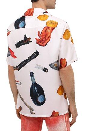 Мужская шелковая рубашка OFF-WHITE белого цвета, арт. 0MGA130F20FAB0010110 | Фото 4