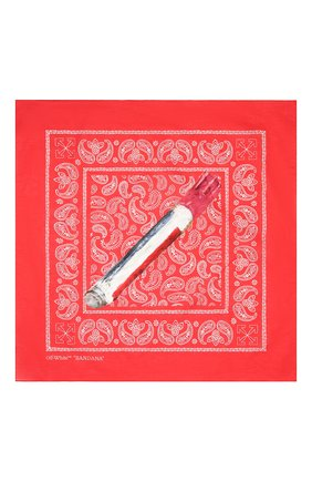 Мужского хлопковая бандана OFF-WHITE красного цвета, арт. 0MMB001F20FAB0022501   Фото 3