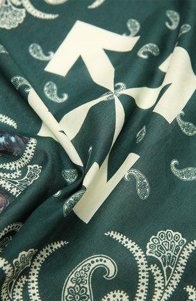 Мужского хлопковая бандана OFF-WHITE зеленого цвета, арт. 0MMB001F20FAB0055730 | Фото 2