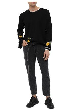 Мужские джинсы OFF-WHITE серого цвета, арт. 0MYA005F20DEN0030901 | Фото 2