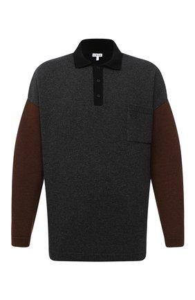 Мужской свитер из шерсти и кашемира LOEWE разноцветного цвета, арт. H526333X84 | Фото 1