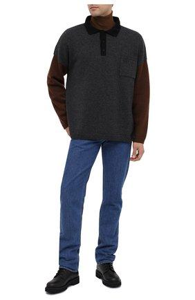 Мужской свитер из шерсти и кашемира LOEWE разноцветного цвета, арт. H526333X84 | Фото 2