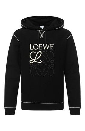 Мужской хлопковое худи LOEWE черного цвета, арт. H526341XAL | Фото 1