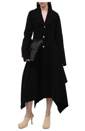 Женские кожаные мюли bv bold BOTTEGA VENETA светло-бежевого цвета, арт. 630148/VBP40 | Фото 2