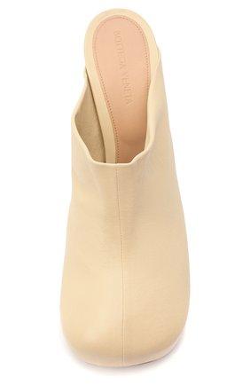 Женские кожаные мюли bv bold BOTTEGA VENETA светло-бежевого цвета, арт. 630148/VBP40 | Фото 5