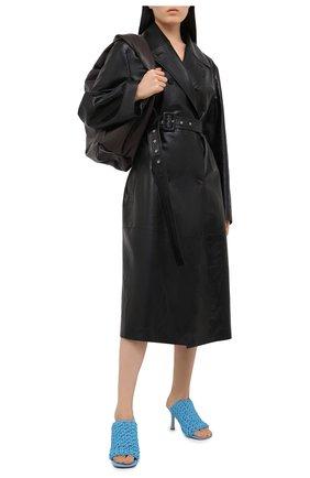 Женские кожаные мюли bv board BOTTEGA VENETA голубого цвета, арт. 630179/VBP20 | Фото 2
