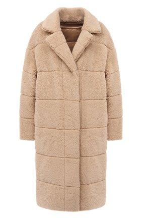 Женское двустороннее пальто MONCLER бежевого цвета, арт. F2-093-1C519-70-C0525 | Фото 1