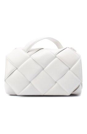 Женская сумка bv handle BOTTEGA VENETA белого цвета, арт. 632647/VCQR1   Фото 1 (Материал: Натуральная кожа; Размер: medium; Ремень/цепочка: На ремешке; Сумки-технические: Сумки через плечо, Сумки top-handle)