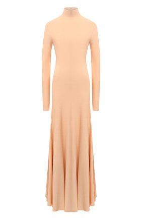 Женское платье из вискозы BOTTEGA VENETA бежевого цвета, арт. 640079/VKI60   Фото 1