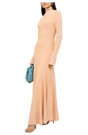 Женское платье из вискозы BOTTEGA VENETA бежевого цвета, арт. 640079/VKI60   Фото 2