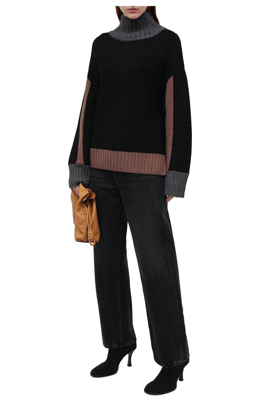 Женские текстильные ботильоны lea NEOUS черного цвета, арт. 00230K01N01 | Фото 2