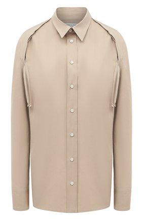 Женская рубашка BOTTEGA VENETA бежевого цвета, арт. 642090/VA5Y0 | Фото 1