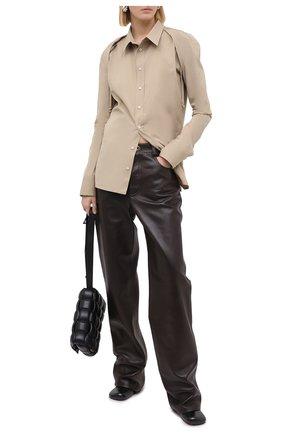 Женская рубашка BOTTEGA VENETA бежевого цвета, арт. 642090/VA5Y0 | Фото 2
