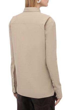 Женская рубашка BOTTEGA VENETA бежевого цвета, арт. 642090/VA5Y0 | Фото 4