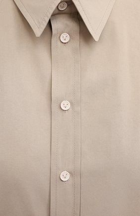 Женская рубашка BOTTEGA VENETA бежевого цвета, арт. 642090/VA5Y0 | Фото 5