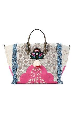 Женский сумка portugalcaba CHRISTIAN LOUBOUTIN разноцветного цвета, арт. portugalcaba fabric/calf paris | Фото 1