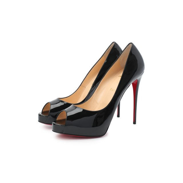 Кожаные туфли New Very Prive 120 Christian Louboutin