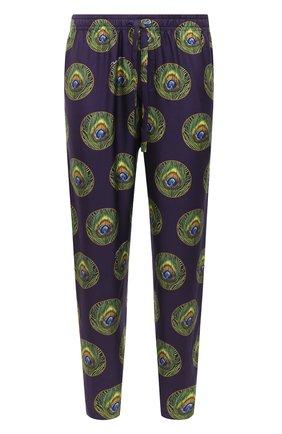 Мужские шелковые домашние брюки DOLCE & GABBANA фиолетового цвета, арт. GYB0HT/IS1FW | Фото 1