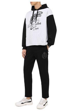 Мужской хлопковые брюки DOLCE & GABBANA черного цвета, арт. GWL2AZ/G7WTE | Фото 2