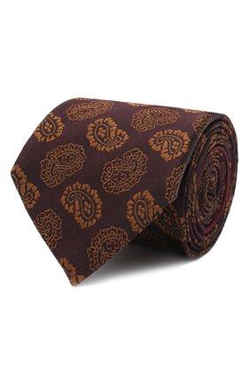 Мужской шелковый галстук ZEGNA COUTURE коричневого цвета, арт. Z8C02/15C | Фото 1