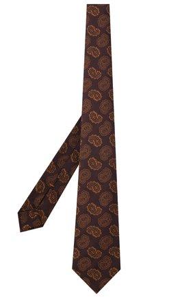 Мужской шелковый галстук ZEGNA COUTURE коричневого цвета, арт. Z8C02/15C | Фото 2