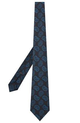 Мужской шелковый галстук ZEGNA COUTURE черного цвета, арт. Z8C01/15C | Фото 2