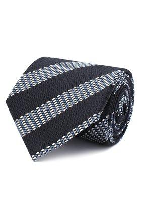 Мужской шелковый галстук ZEGNA COUTURE темно-синего цвета, арт. Z8C00/15C | Фото 1