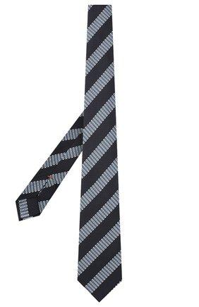 Мужской шелковый галстук ZEGNA COUTURE темно-синего цвета, арт. Z8C00/15C | Фото 2