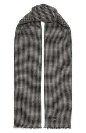 Мужской шарф из шерсти и кашемира ERMENEGILDO ZEGNA серого цвета, арт. Z8L50/28T   Фото 1