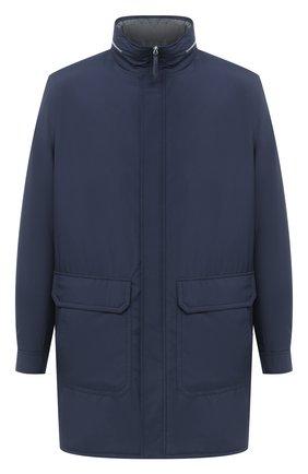 Мужская утепленное пальто ANDREA CAMPAGNA темно-синего цвета, арт. 95100H9NW5010 | Фото 1
