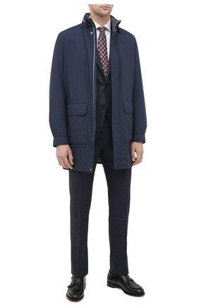 Мужская утепленное пальто ANDREA CAMPAGNA темно-синего цвета, арт. 95100H9NW5010 | Фото 2