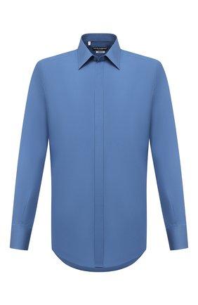Мужская хлопковая сорочка DOLCE & GABBANA голубого цвета, арт. G5FT0T/FU5NK | Фото 1